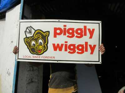 $ CDN137.21 • Buy Porcelain Piggly Wiggly  Enamel Sign Size 18  X 36  Inches