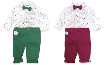 £15.99 • Buy NEW Baby Boys Spanish Style Romany Bodysuit Shirt Chino Pants & Bow Tie Outfit