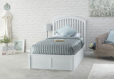 £349.95 • Buy Madrid Solid Wood Ottoman Storage Bed - White - 3ft