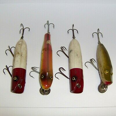 $ CDN8.18 • Buy MIXED LOT Of (4) VINTAGE PAW PAW BAIT CO. WOOD LURES * NICE LOT!