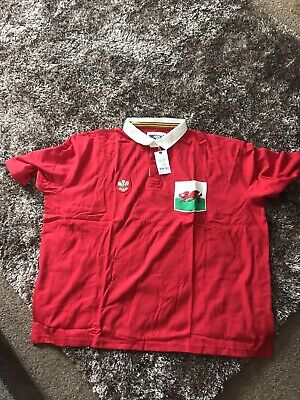 £14.99 • Buy Wales Cotton Traders Rugby Shirt 5 XL