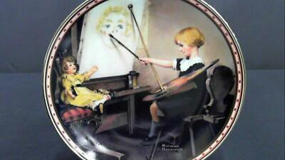 $ CDN3.76 • Buy Mind Of Her Own Serious Business Norman Rockwell Edwin M. Knowles Plate DEALS