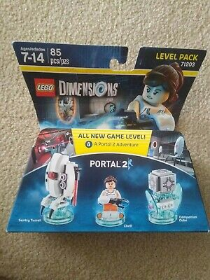 £14.62 • Buy NEW Chell Turret & Companion Cube Portal 2 Lego Dimensions Level Pack 71203