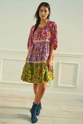 $ CDN97.80 • Buy NWT Anthropologie Mabel Floral Tiered Mini Dress Size XS