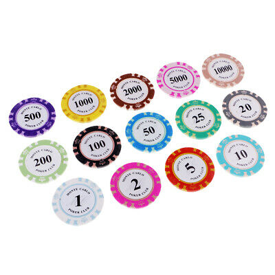 £5.81 • Buy 14PCS Poker Chips Clay Casino Coins Entertainment Chips With