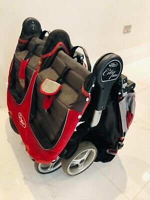 £65 • Buy Baby Jogger City Mini Double Red Pushchairs Double Seat Stroller