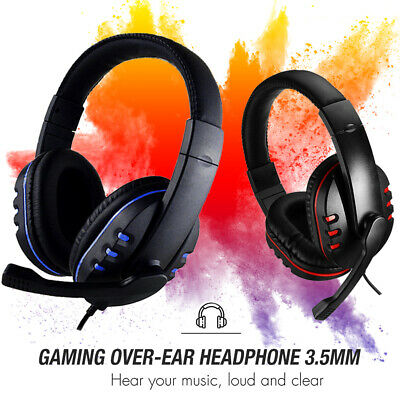 £8.99 • Buy Gaming Headset Headphone Usb With Microphone +volume Control For Ps4 Pc Laptop