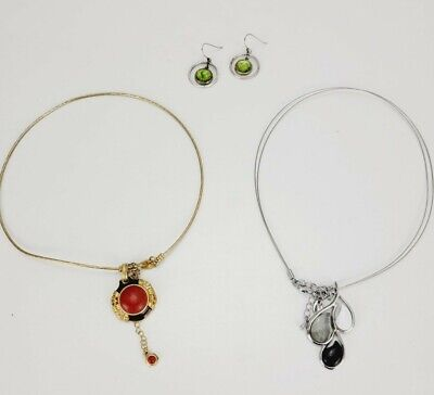 $ CDN26.91 • Buy Lia Sophia Lot Of (2) Necklaces Gold & Silver Tone Statement With Gold Earrings