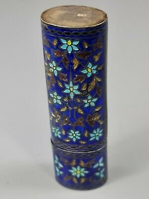 £0.99 • Buy Exquisite Vintage 1950s Sterling Silver & Enamel Container & Lid