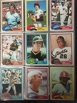 $0.99 • Buy 1981 TOPPS Baseball Cards.  Card #s 251-500.  You Pick To Complete Your Set