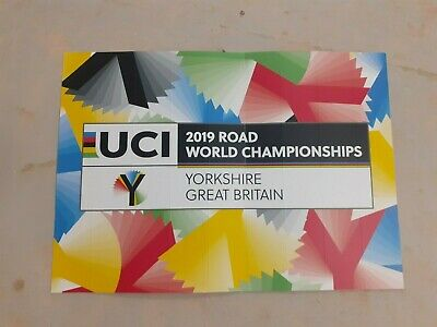 £3.95 • Buy UCI 2019 Road World Championships (Yorkshire) Poster