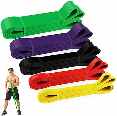 £20.99 • Buy Yoga Resistance Bands Set Latex Fabric Exercise  Loop Fitness Home Gym Booty UK