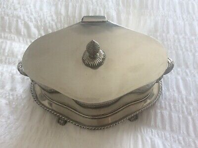 £39.95 • Buy EXQUISITE EDWARDIAN Collectable Silver Plated Butter Cheese  Dish