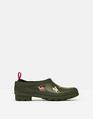 £37.95 • Buy Joules Womens Pop On Printed Welly Clogs - Khaki Chicken Run