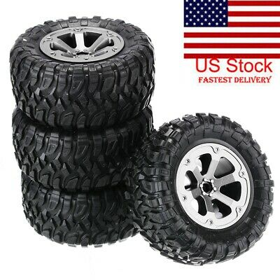 $12.79 • Buy 4pc Upgrade Rubber Wheels Spare Parts For 1/16 WPL B14 C24 Military Truck RC Car