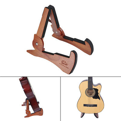 $ CDN48.77 • Buy Universal Foldable Guitar Stand Holder Mahogany Solid Wood For Guitars Bass D8D5