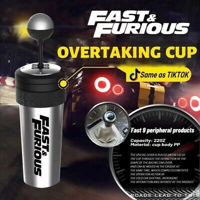 £9.93 • Buy 650ML Fast And Furious 9 Car Water Cup With Straw And Lid Rocker Shift Best Gift