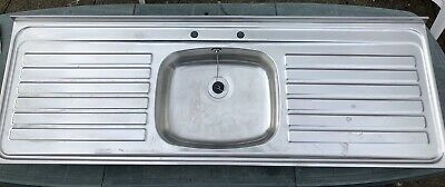 £10 • Buy Stainless Steel Single Bowl Double Drainer Kitchen Sink