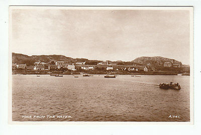 £1.50 • Buy Iona From The Water 1934 Real Photograph Valentines A741 Old Postcard Unposted