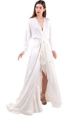 AU48.58 • Buy RRP €4010 JENNY PACKHAM Wrap A-Line Wedding Gown Size UK 6 / XS Belted