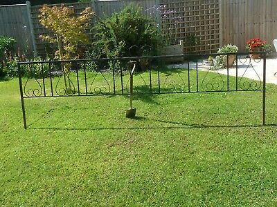 £15 • Buy Painted Wrought Iron Fence Panels For The Garden, ( Panel A ) 1st Of 4