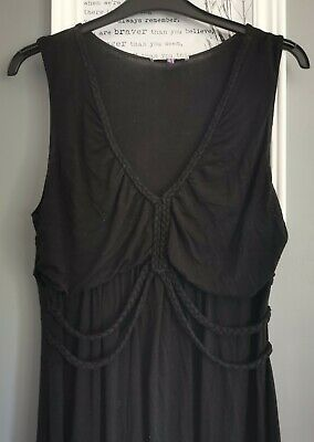 AU3.74 • Buy Asos Black Rope Crossover Detail Maxi Dress Maternity Jersey Fabric Size 16!