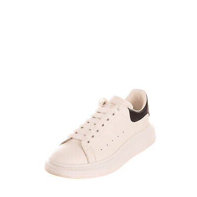 AU19.62 • Buy RRP €535 ALEXANDER McQUEEN Leather Sneakers Size 44 UK 10 US 11 Made In Italy