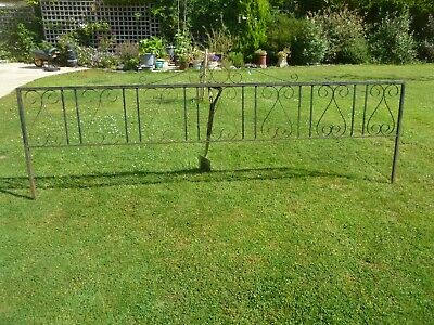 £15 • Buy Painted Wrought Iron Fence Panels For The Garden, ( Panel C ) 3rd Of 4