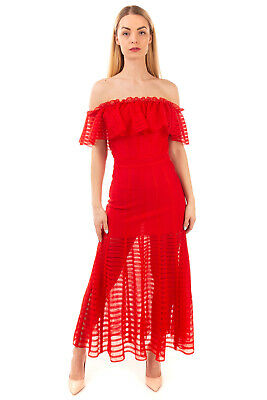 AU186.85 • Buy RRP €1720 ALEXANDER McQUEEN Knitted Trumpet Dress Size M Ruffle Made In Italy