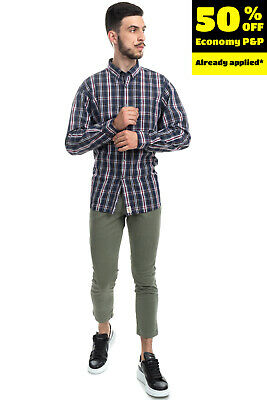 $1.36 • Buy RRP€110 BOB Chino Trousers Size 46 / S Stretch Garment Dye Cropped Made In Italy