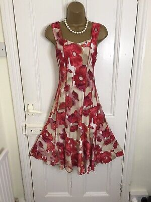 AU9.70 • Buy ROMAN Dress Size 10 Floral Fit And Flare