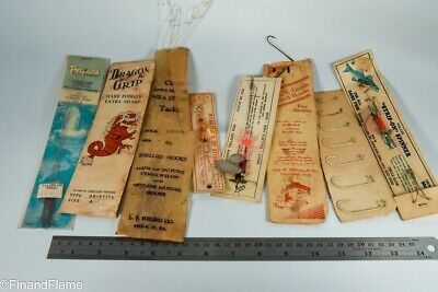 $ CDN1.25 • Buy Vintage Snelled Hook Antique Fishing Lure Lot LC31
