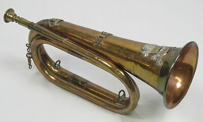 £72.34 • Buy Antique 3rd Dragoon Guards Military Bugle Ceremonial UK British Prince Of Wales