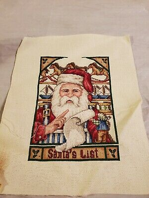 £29.56 • Buy Lot Of 10  Completed  Finished Counted Cross Stitch