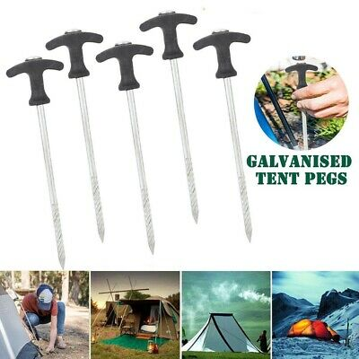 AU1.99 • Buy Tent Pegs Heavy Duty Screw Steel In Ground Camping Stakes Outdoor Nail 1PC