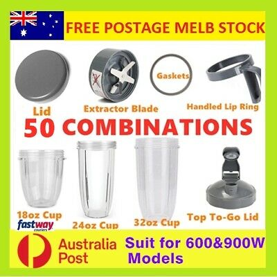 AU26.99 • Buy Nutribullet Cups Replacement Parts Gasket Lid Extractor Blade 600W & 900W Model