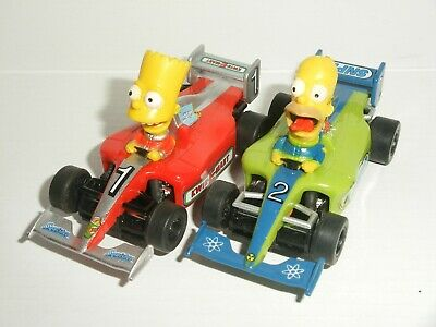 £14.99 • Buy 12V MICRO Scalextric - Pair Of F1 Simpson Cars Homer Bart - Mint