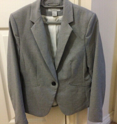 £3 • Buy H&M Grey Fitted Suit Jacket Size 16