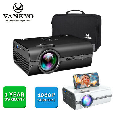 AU107.99 • Buy VANKYO Leisure 410 Mini Projector 1080P 5000 Lumens Home Theater For IOS/Android