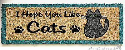 £11 • Buy 75cm Novelty I Hope You Like Cats Thick Coir Doormat Non Slip Mat Cat Lover Gift