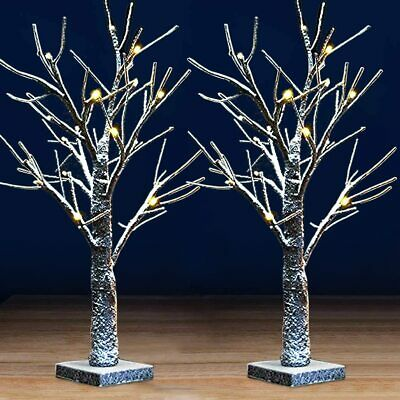 £19.99 • Buy 2pcs 60cm Christmas Birch Tree LED Light Up Branch Twig Party Lights Table Lamp