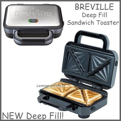 £24.95 • Buy Breville Deep Fill Sandwich Toaster Removable Easy Clean Plates VST041 Silver