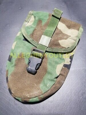 $14.90 • Buy US Military USMC Woodland ENTRENCHING E TOOL CARRIER Shovel Cover MOLLE Pouch VG