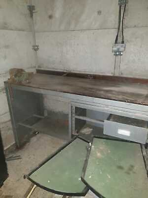 £450 • Buy Heavy Duty Metal Workbench With Record Vice