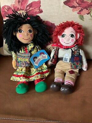 £79.99 • Buy Rosie & Jim Canal Narrowboat Beanie Rag Dolls With Their Tote Bags - Tag! -Rare!