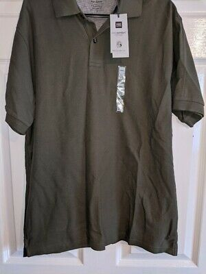 £3 • Buy Marks And Spencer Pure Cotton Khaki Polo Shirt Size Small BNWT
