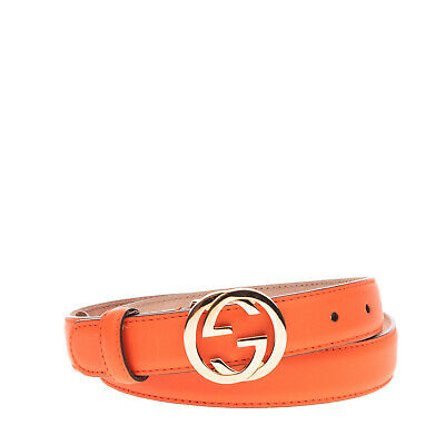 AU134.57 • Buy RRP €420 GUCCI Leather Belt Size 80/32 Interlocking GG Buckle Made In Italy