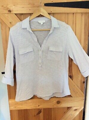 £8.50 • Buy Fab THE WHITE COMPANY-WHITE LABEL Casual Pale Blue Cotton Top Size 14
