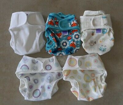 AU20 • Buy PRELOVED Bambino Mio Mioduo Newborn Reusable Modern Cloth Nappies All In Two X 5