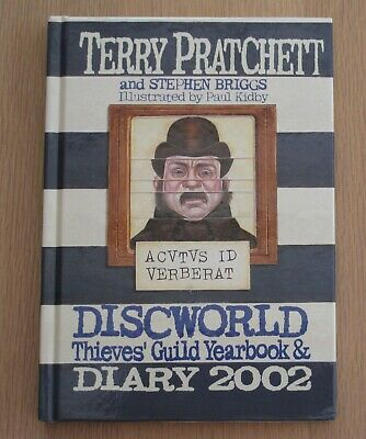£45 • Buy SIGNED By Terry Pratchett Thieves' Guild Yearbook Discworld Diary 2002 1st/1st